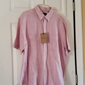 Brand new pink button front shirt